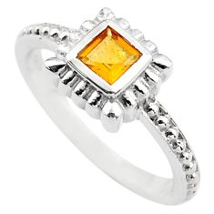 0.43cts natural yellow citrine 925 silver solitaire ring jewelry size 5.5 p83613