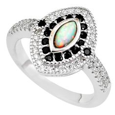 2.35cts pink australian opal (lab) topaz 925 sterling silver ring size 7.5 c2388