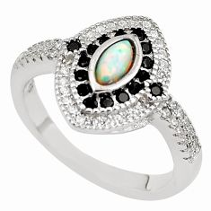 2.14cts pink australian opal (lab) topaz 925 sterling silver ring size 8 c2395