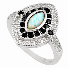 4.40cts pink australian opal (lab) topaz 925 sterling silver ring size 9 c2781