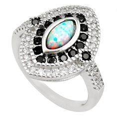 4.51cts pink australian opal (lab) topaz 925 sterling silver ring size 7.5 c2782
