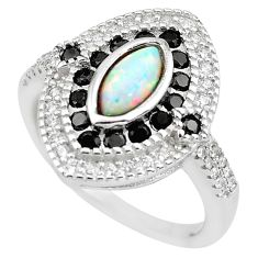 4.53cts pink australian opal (lab) topaz 925 sterling silver ring size 7.5 c2783