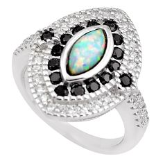 4.51cts pink australian opal (lab) topaz 925 sterling silver ring size 7.5 c2785