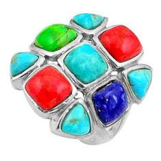 12.62cts southwestern green arizona mohave turquoise silver ring size 6 c4799