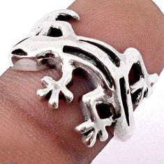 5.21gms STUNNING 925 STERLING SILVER POISON LIZARD RING JEWELRY SIZE 8 H9504