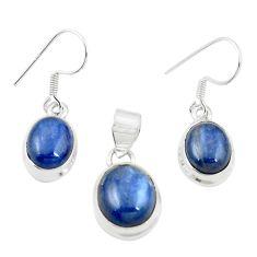 925 sterling silver natural blue kyanite pendant earrings set jewelry m25444