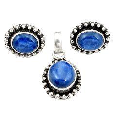 Natural blue kyanite 925 sterling silver pendant earrings set jewelry m25501