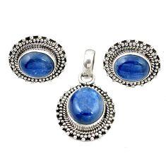 Natural blue kyanite 925 sterling silver pendant earrings set jewelry m25503