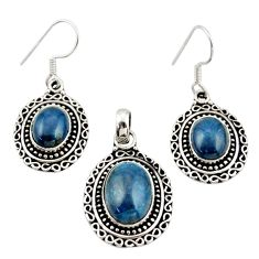 13.62cts natural apatite (madagascar) 925 silver pendant earrings set d45870