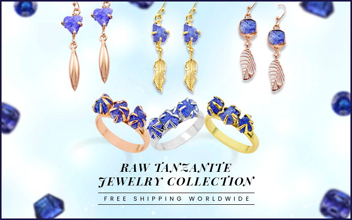 Raw Tanzanite Jewelry Collection